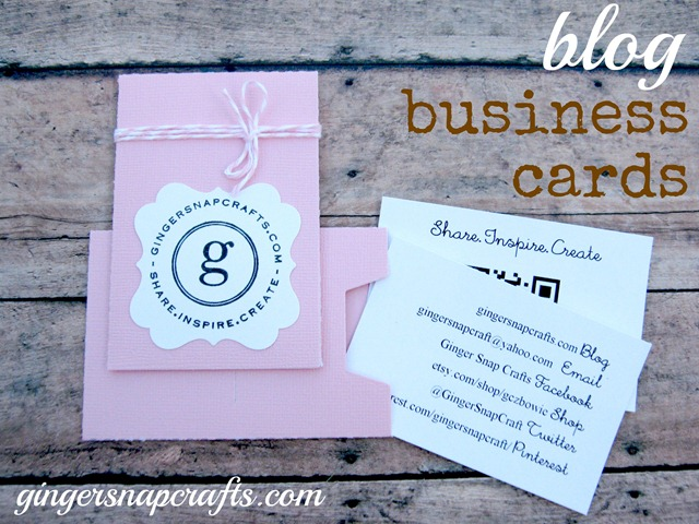 Ginger snap crafts blog business cards update how to make your blog business cards colourmoves