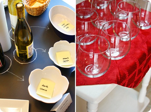 Chalkboard Table & Wine Glasses