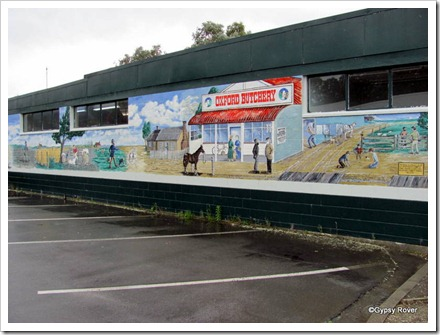 Oxford's mural depicting it's rural history.