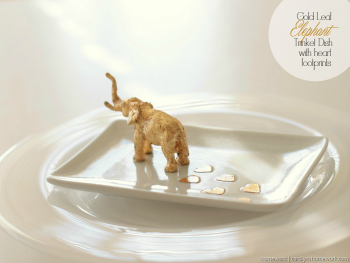 Gold Leaf Elephant Trinket Dish by homework