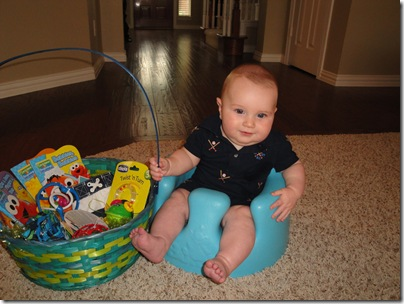 7.  Knox smiling with easter basket
