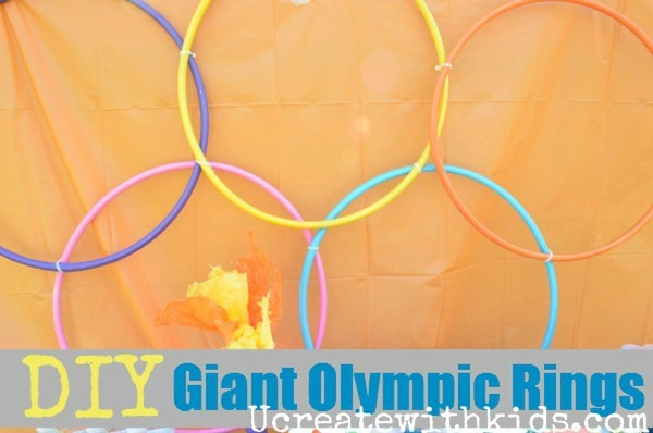 DIY Giant Olympic Rings