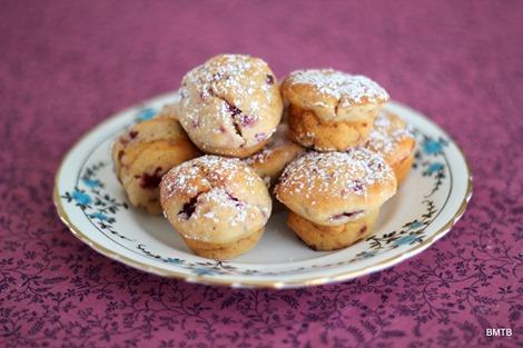 Raspberry and Vanilla Mini muffins