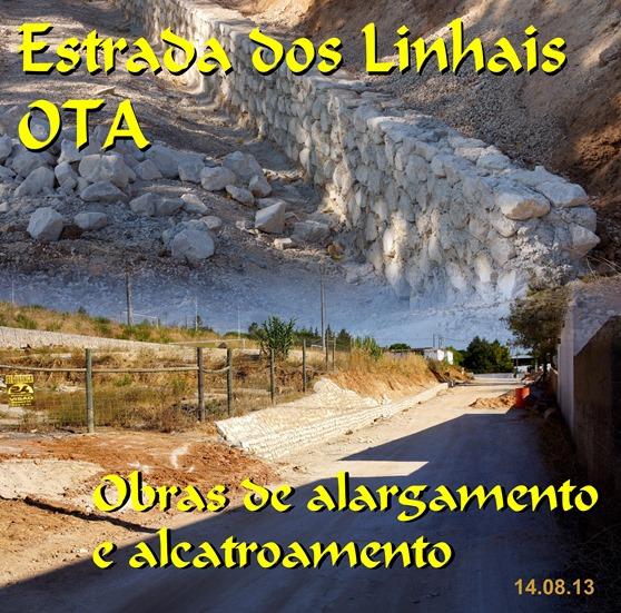 Alargamento   - alcatroamento estrada Linhais - Ota
