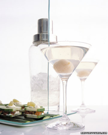 Lychee Martinis. (marthastewart.com)