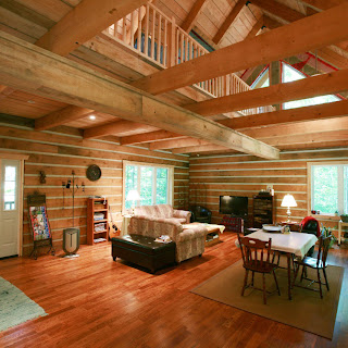 Great Room with open vaulted ceiling