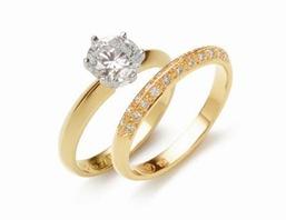 Wedding Engagement Ring & Band