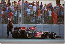 L'avventura di Raikkonen con la Lotus si è chiusa con il ritiro nel gran premio di Abu Dhabi 2013