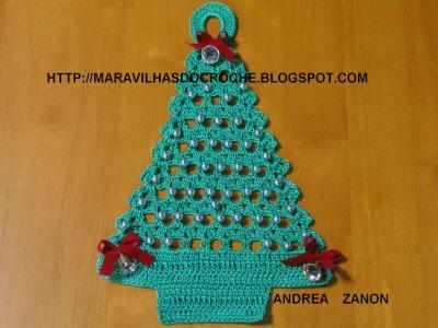 foto da árvore de natal - blog Maravilhas do crochê - publicado em