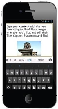 smartphone blog tool