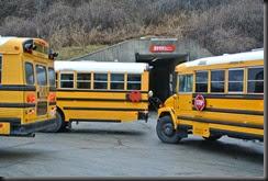 Busses unload