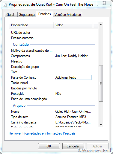 Editando tags ID3 de arquivos MP3 no Windows Explorer