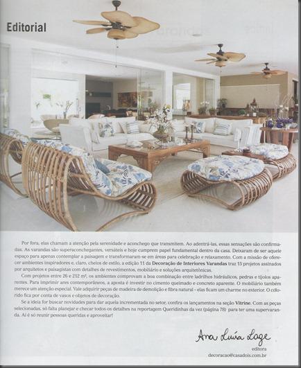 Contracapa da Revista Varandas edição nº11