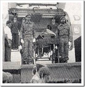 Chegada do corpo do Saudoso Presidente Dr. Agostinho Neto à Luanda...