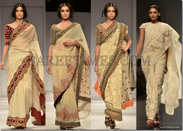 WLIFW_Spring_Summer_2013_Cream_Sarees
