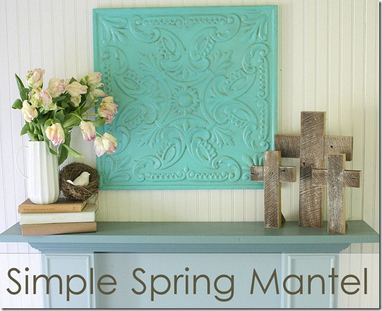 spring mantel graphic