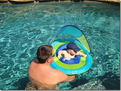 4.  Knox and Daddy in the pool