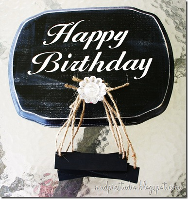 Happy Birthday Sign - Tutorial 8