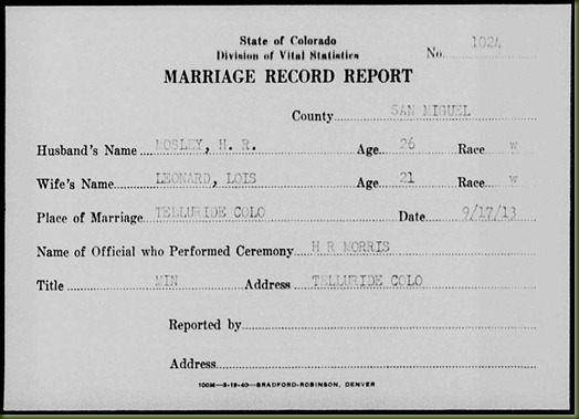 H-R-Mosley-and-Lois-Leonard-marriage