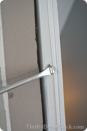 how to remove existing door trim