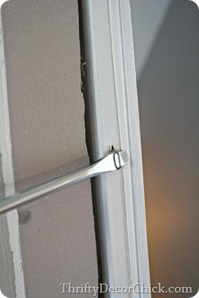 how to remove existing door trim