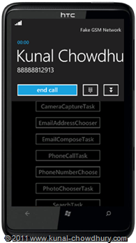 WP7.1 Demo - Phone Call Task Calling UI