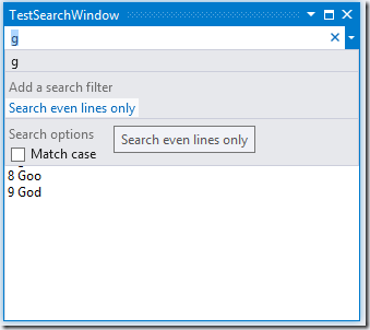 SearchableToolWindow