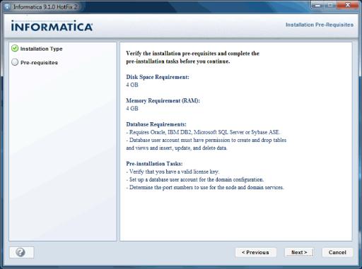 Informatica 9 Installation Steps