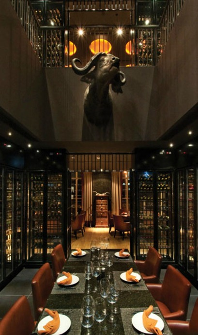 dubai brazilian restaurant steakhouse interior design contemporary fire ony