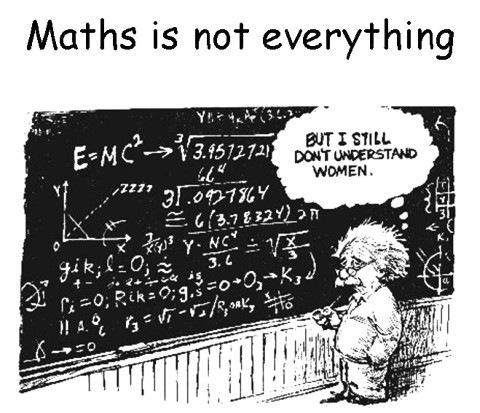 Математика – это еще не всё - я так и не научился понимать женщин...