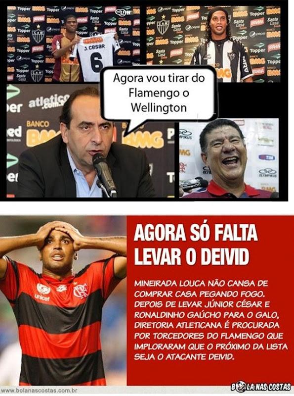 o Atlético-mg vai salvar o flamengo - leva tambem o Deivid e o Wellington