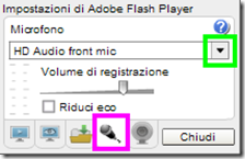 Recordmp3.org Impostazioni di Adobe Flash Player