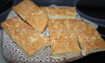 Easy Focaccia - Gluten-free - plated