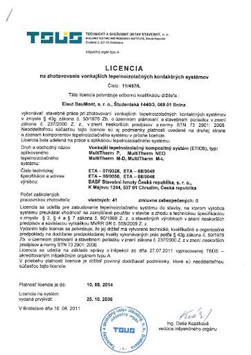 Licencia na zatepľovanie BASF