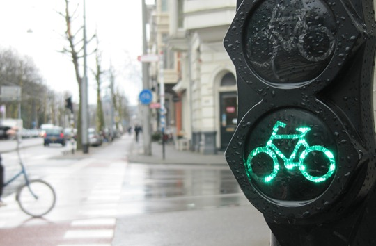 Amsterdam bicycle traffic signal