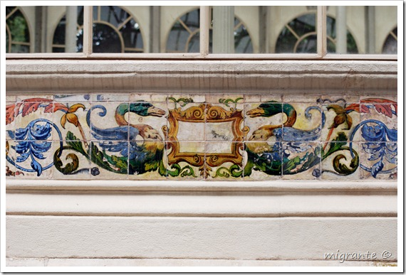 palacio de cristal - parque del retiro - madrid - patos enfrentados
