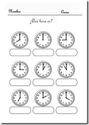 aprender la hora 3 1