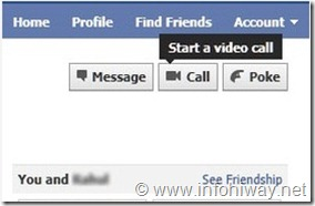 fb video call start video call