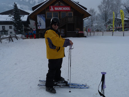 Schi Kaprun: prima lectie de schi