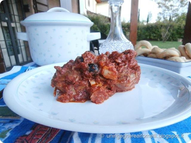 ossibuchi vitello pomodoro carciofi olive