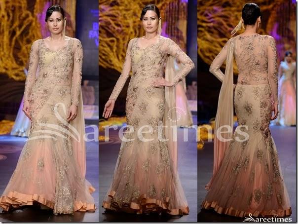 Gaurav_Gupta_Cream_Lehenga_Style_Sari