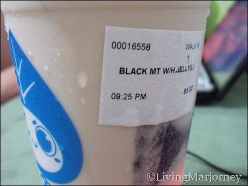 A-gantea: Black Milk Tea with Herbal Jelly