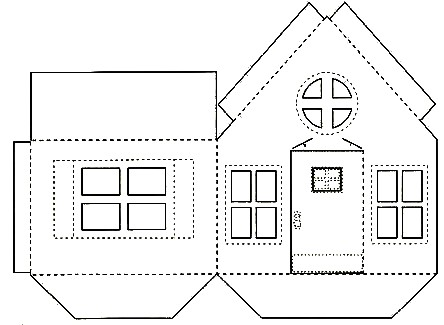 Recortables de casas para colorear for Disegnare casa 3d gratis italiano