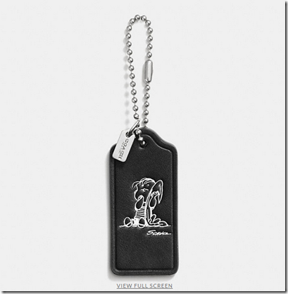 COACH X Peanuts leather hangtag - USD 20 - black 06