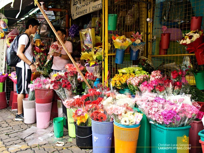A Typical Store at Dangwa Flower Market in Manila