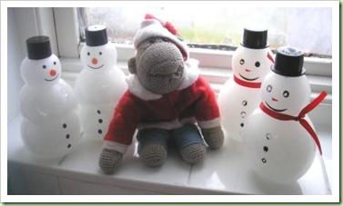 Snowman foam bath