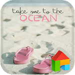 beach LINE Launcher Theme 4.1 Apk