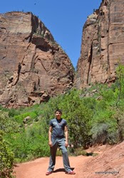 On the way to the Emerald Pools