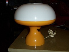 orange mushroom table lamp