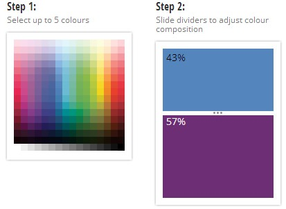 Elección de color en la paleta